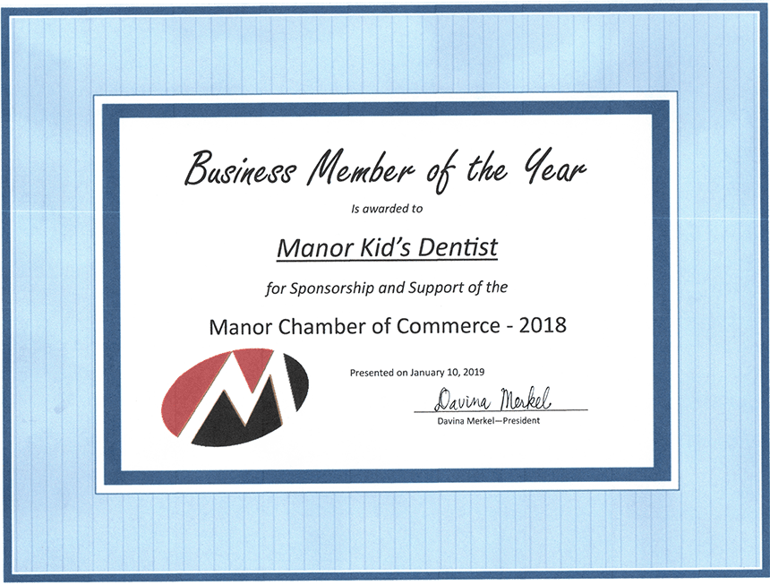 Manor Chamber of Commerce Award 2018